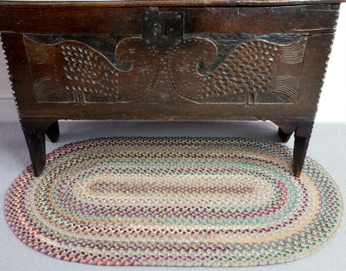 Smokey Blue American Braided Rug