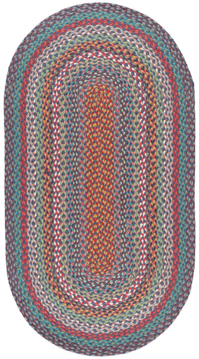 Carnival Blue Oval Organic Jute Rugs