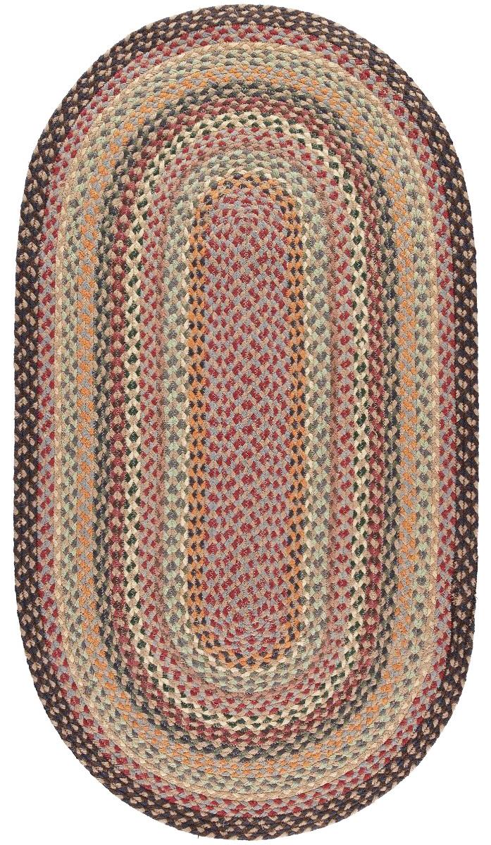 Misty Blue Oval Organic Jute Rugs