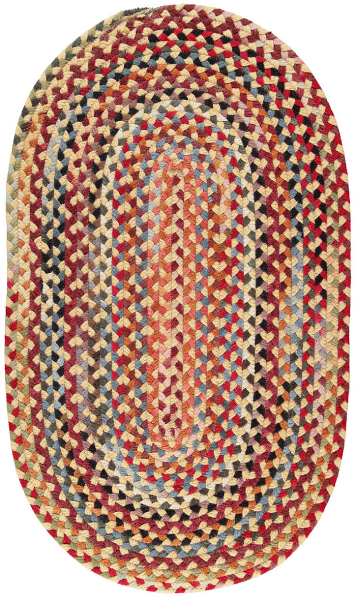 Pale Gold American Braided Rugs