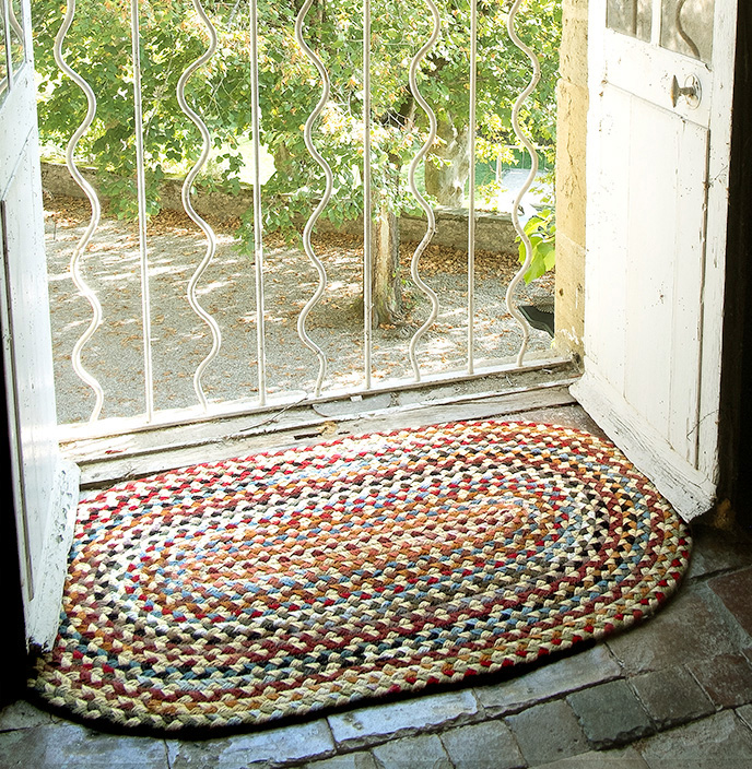 Pale Gold American Braided Rug