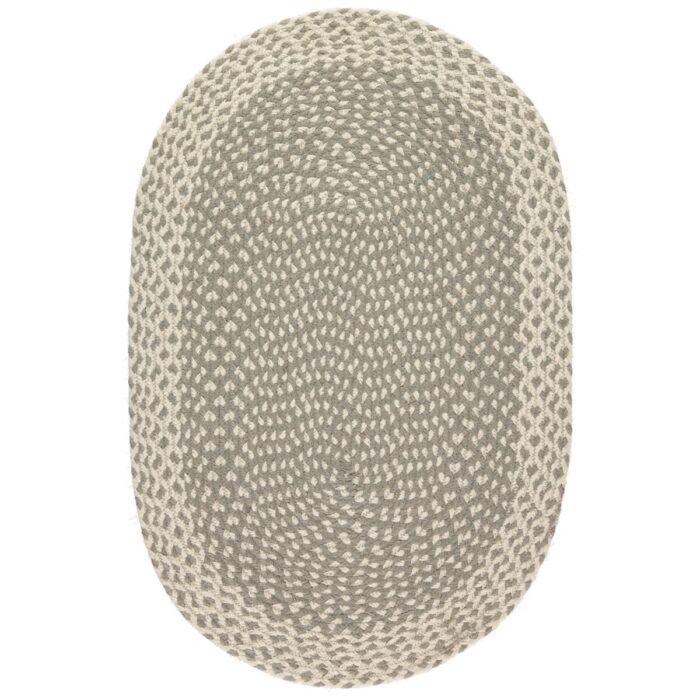 Grey Oval Organic Jute Rugs