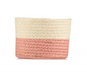 Two Tone Rose Organic Jute Baskets