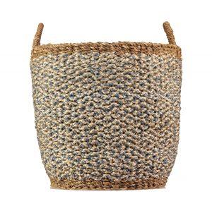 Village Thistle / White Organic Jute Basket