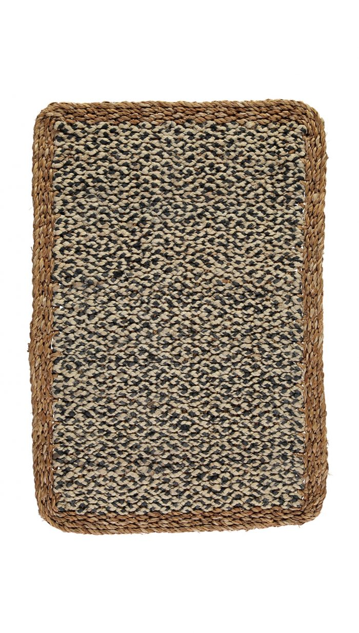 Organic Jute Doormat Black
