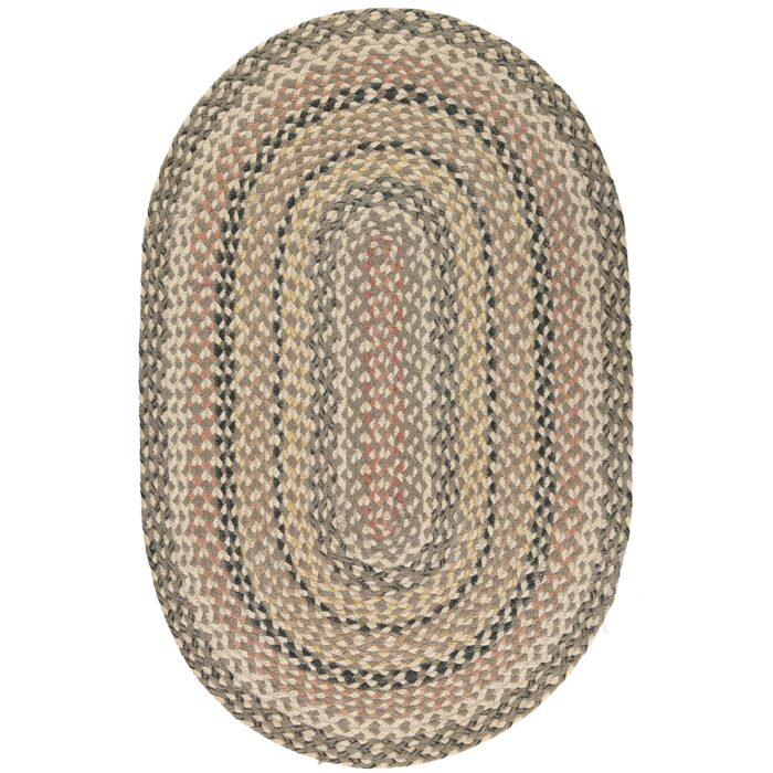 Granite Oval Organic Jute Rug