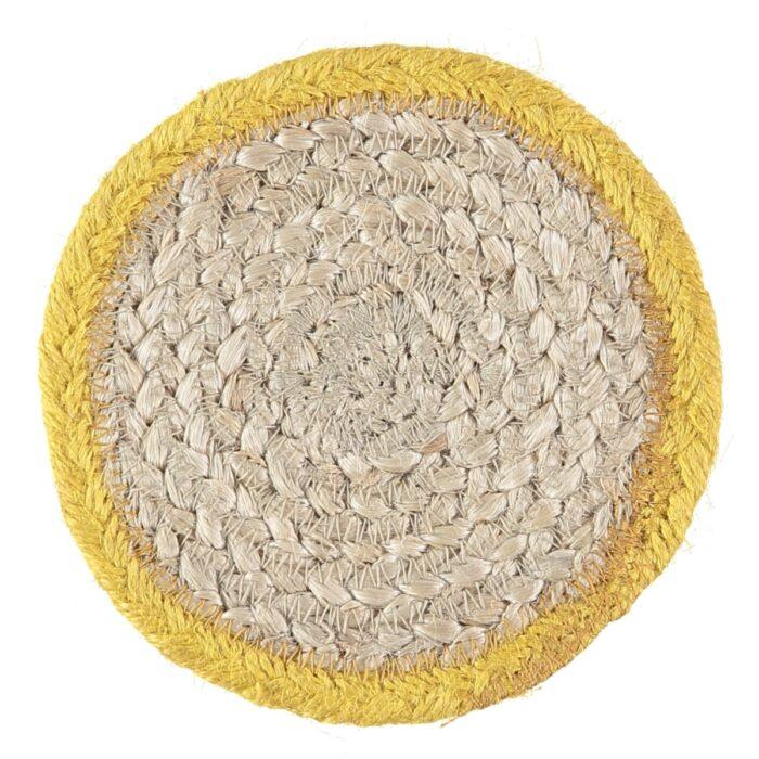 Daffodil Organic Jute Coasters