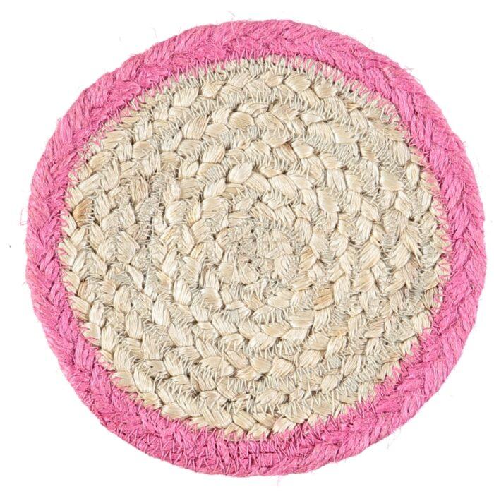 Magenta Organic Jute Coasters
