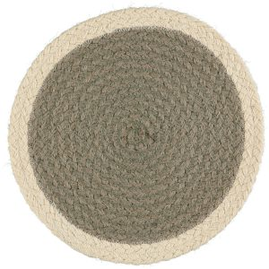Grey/Cream Organic Jute Placemats