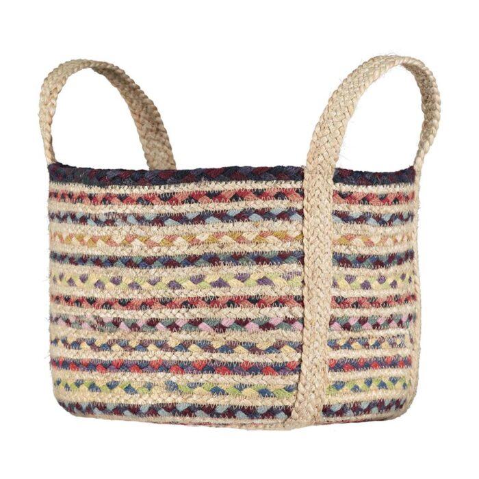 Fairisle Organic Jute Basket