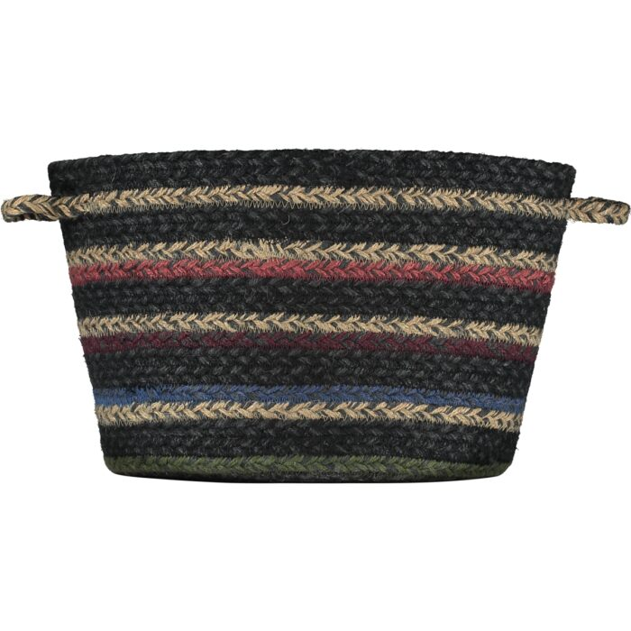 Winter Stripe Organic Jute Utility Basket