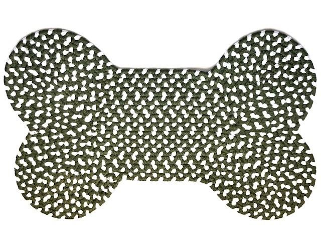 Olive Eco Dog Bone rug