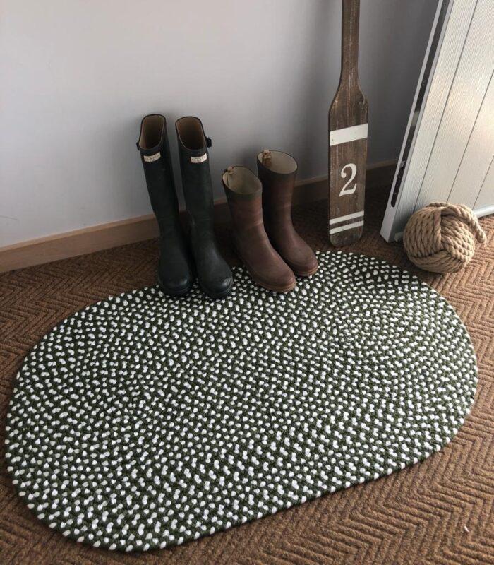 Olive Eco Braided Rug