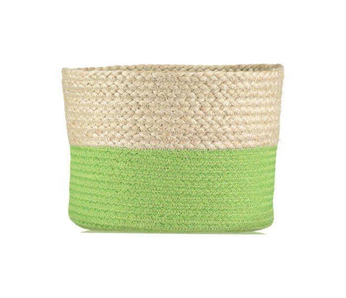 Calypso Lime Organic Jute Baskets