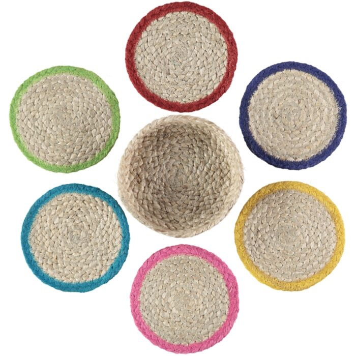 Calypso Organic Jute Coasters