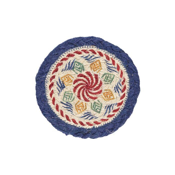 Kantha Organic Jute Coasters